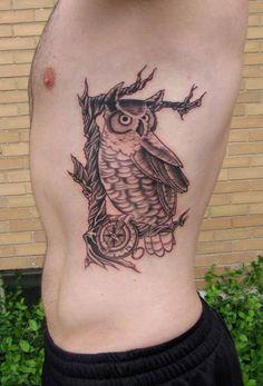 owl compass rose