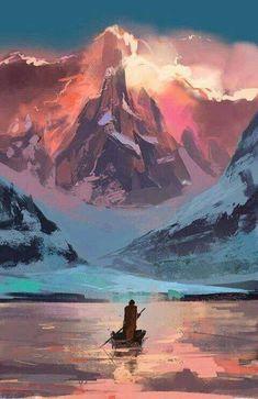 New Landscape Concept Art Awesome Ideas Landscape Concept, Fantasy Landscape, Landscape Art, Landscape Paintings, Mountain Landscape, Fantasy Art Landscapes, Mountain Art, Landscape Illustration, Digital Illustration