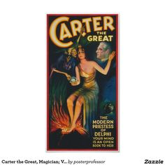 Carter the Great, Magician; Vintage Poster