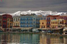 Port of Chania, February 2015, Crete, Greece ☀️