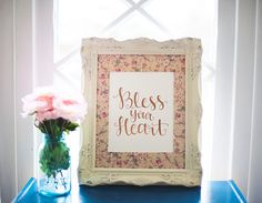 Bless Your Heart Gold Foil Print http://rstyle.me/n/ep4whnyg6