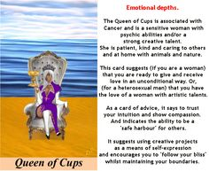 QUEEN OF CUPS #tarotcardmeaning