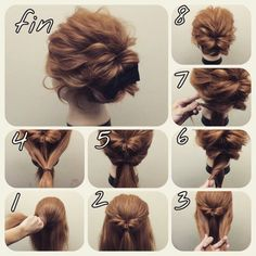 Skip to content 54 cute easy updos for long hair when in a hurry Classy to Cute: Easy hairstyles for long hair for 2017 The light chignon Sweet updos for long hair Easy Bun Hairstyles, Pretty Hairstyles, Amazing Hairstyles, Step Hairstyle, Hairstyles 2018, Makeup Hairstyle, Evening Hairstyles, Casual Hairstyles, Indian Hairstyles