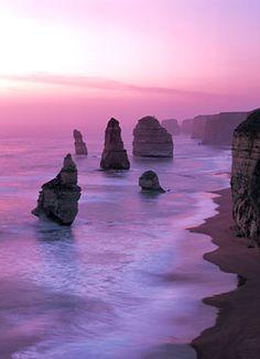 Twelve Apostles in sunset light, Victoria, Australia