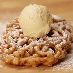 Apple Cider Funnel Cake by Tasty