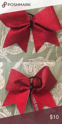 Fierce Bows sparkle red bow Have tons of bows to list....bundle and save!!!  Most bows were only worn a couple of times (if at all) and some are $30 competition bows. Accessories Hair Accessories