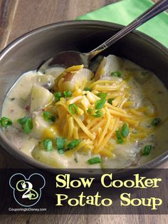 Great winter treat. Easy to make potato soup in the Crock Pot. This is so good!