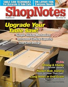 Cover of the most recent ShopNotes issue