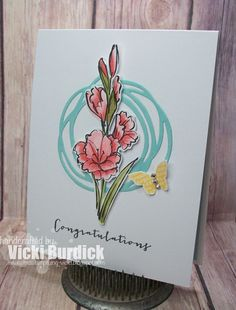 It's a Stamp Thing: Paper Players....Congratulations - SU - congratulations, gift of love, Paper Players, SUO, watercoloring
