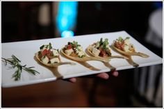 Passed hors d'oeuvres for guests to enjoy | One Fine Day Photography | villasiena.cc
