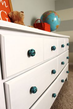 Delightfully Noted: Old Dresser Makeover: How to Paint Laminate Furniture
