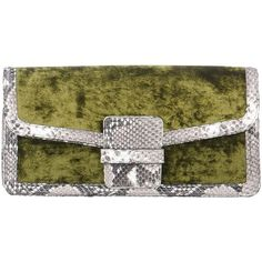 Dries Van Noten Handbag (665 CAD) ❤ liked on Polyvore featuring bags, handbags, military green, olive green handbag, olive green purse, army green handbag, colorful purses and green purse