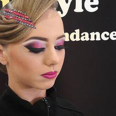 Ballroom Hair, Ballroom Dress, Updo Styles, Hair Styles, Competition Makeup, Eye Makeup, Hair Makeup, Dance Stage, Dance Hairstyles