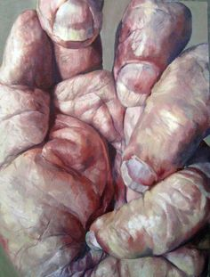 Shirley Faktor. Art. Hand. Textures. Skin. Paintings. http://www.persimmontree.org/v2/summer-2011/paintings-the-cyclical-nature-of-life/