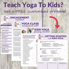 Free Printables + Video Series on teaching kids yoga! Teach your best kids yoga class yet! Partner Yoga Poses, Kids Yoga Poses, Yoga For Kids, Kid Yoga, Video Series, Kinesthetic Learning, Yoga Books, Yoga Lessons, How To Teach Kids