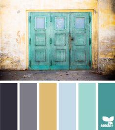 Design Seeds color palette - lovely door. #ShopKick #TreatYourself