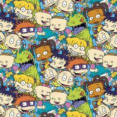 Cartoon Fabric Nickelodeon Rugrats Packed by CartoonsFabric