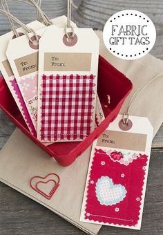 Fabric Gift Tags                                                                                                                                                                                 More