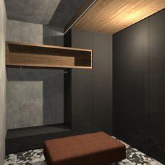 Návrh moderní chodby ve vile v Severních Čechách.#interiordesign#corridor#modern#velkachodba# Bronze