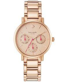 kate spade new york Women's Gramercy Rose Gold-Tone Bracelet Watch 34mm 1YRU0470