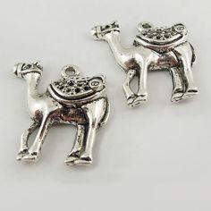 37594 Antiqued Silver Vintage Alloy  Cute Camel Pendant by fr123, $3.99