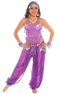 BELLY DANCER HAREM GENIE COSTUME (PURPLE/SILVER) - Item #5229 on   sc 1 st  Pinterest & BELLY DANCER HAREM GENIE COSTUME (BLUE/SILVER) - Item #5227 on www ...