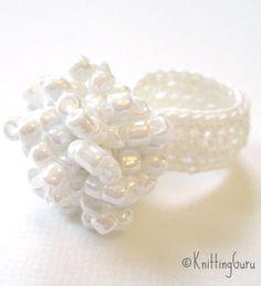White Beaded Crochet Cocktail Ring is featured in this Etsy Crochet Treasury: http://www.etsy.com/treasury/MTUzNTI0NTd8MjcyNjE1NzE4MA/crochet-love