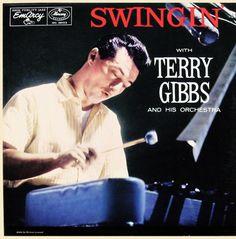 """Terry Gibbs- Swinging - EmArcy MG36103 [12"""" LP] 1956  Photo- Herman Leonard"""