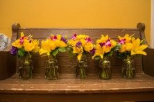 Yellow & Purple Wedding Bouquets
