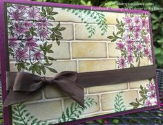 Eimear Carvill www.stampincolour.com Stampin Up Awesomely Artistic with blender pens and Brick Wall embossing folder