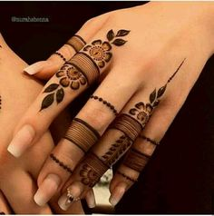 Most beautiful and easy mehndi designs See more ideas about Henna designs easy, Henna designs and Henna. How to Do Henna Design for B. Finger Mehendi Designs, Mehndi Designs 2018, Mehndi Designs For Girls, Mehndi Designs For Beginners, Mehndi Designs For Fingers, Mehndi Designs For Hands, Mehndi Fingers, Finger Mehndi Style, Bridal Mehndi Designs