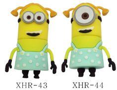 Baby Theme USB Drive   Hot vente- odieux me 2 modèle 1gb-32gb 3d sbires cartoon lecteur ...