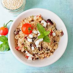 Two Tarts | Recipes and Cocktails: Olive & Tomato Quinoa Salad