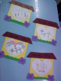 Preschool Family Theme, Family Crafts, Family Activities, Preschool Auction Projects, Preschool Crafts, Art For Kids, Crafts For Kids, September Crafts, Toddler Art