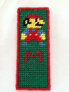 Mario Plastic Canvas Bookmark