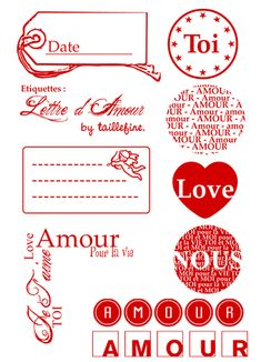 Lot tampon creation fait maison amour cousu main imprimables pinterest - Idee scrapbooking amour ...