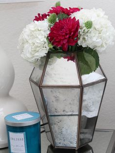 Add fresh flowers and a candle for guests for the holidays! #TuesdayMorning #ad