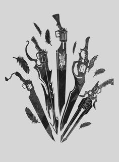 Inspired by the Protagonist of Final Fantasy VIII Final Fantasy Tattoo, Arte Final Fantasy, Fantasy Logo, Final Fantasy Characters, Final Fantasy Artwork, Anime Characters, Mafia, D&d Dungeons And Dragons, Nerd Art