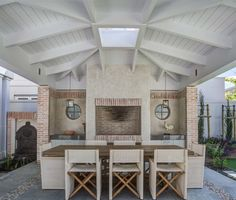 Voelkilp - beach style - patio - other metro - by Wynand Wilsenach Architects Built In Braai, Townhouse Garden, Unique House Design, Farmhouse Fireplace, Home Decor Kitchen, Kitchen Ideas, Patio Design, Backyard Patio, Home Remodeling