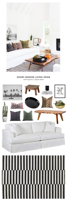 This eclectic, boho california style living room by Amber Interiors gets recreated for less by Copy Cat Chic luxe living for less budget home decor design