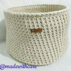Crochet Baskets tshirt yarn basket storage basket