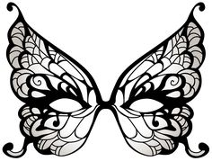 Butterfly Carnival Mask PNG Clip Art Image