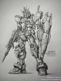GUNDAM GUY: Awesome Gundam Sketches by VickiDrawing