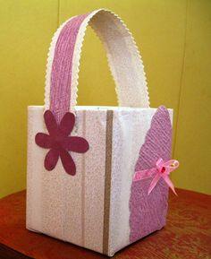 Reciclagem - Cesto para Oferta de Páscoa