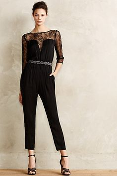 Lace Reverie Jumpsuit #anthropologie #anthrofave