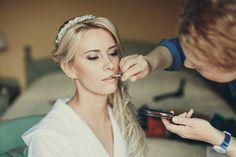 light bridal make up in Como lake