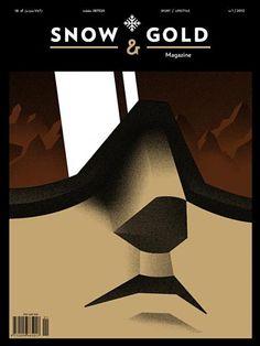 Portadas memorables: Maciej Swiatnicki dibuja una excelente portada con aire decó para la revista Snow & Gold (vía Coverjunkie.com)