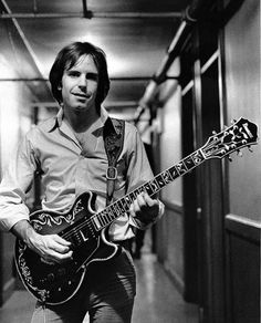 Bob Weir of the Grateful Dead with the guitar Ibanez custom made for him about 1976.