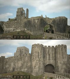 Corfe Castle Digital Reconstruction by Ciprian Selegean