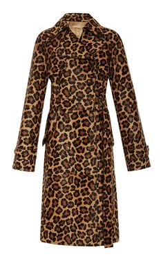 Michael Kors Collection Animal Print Trench Coat